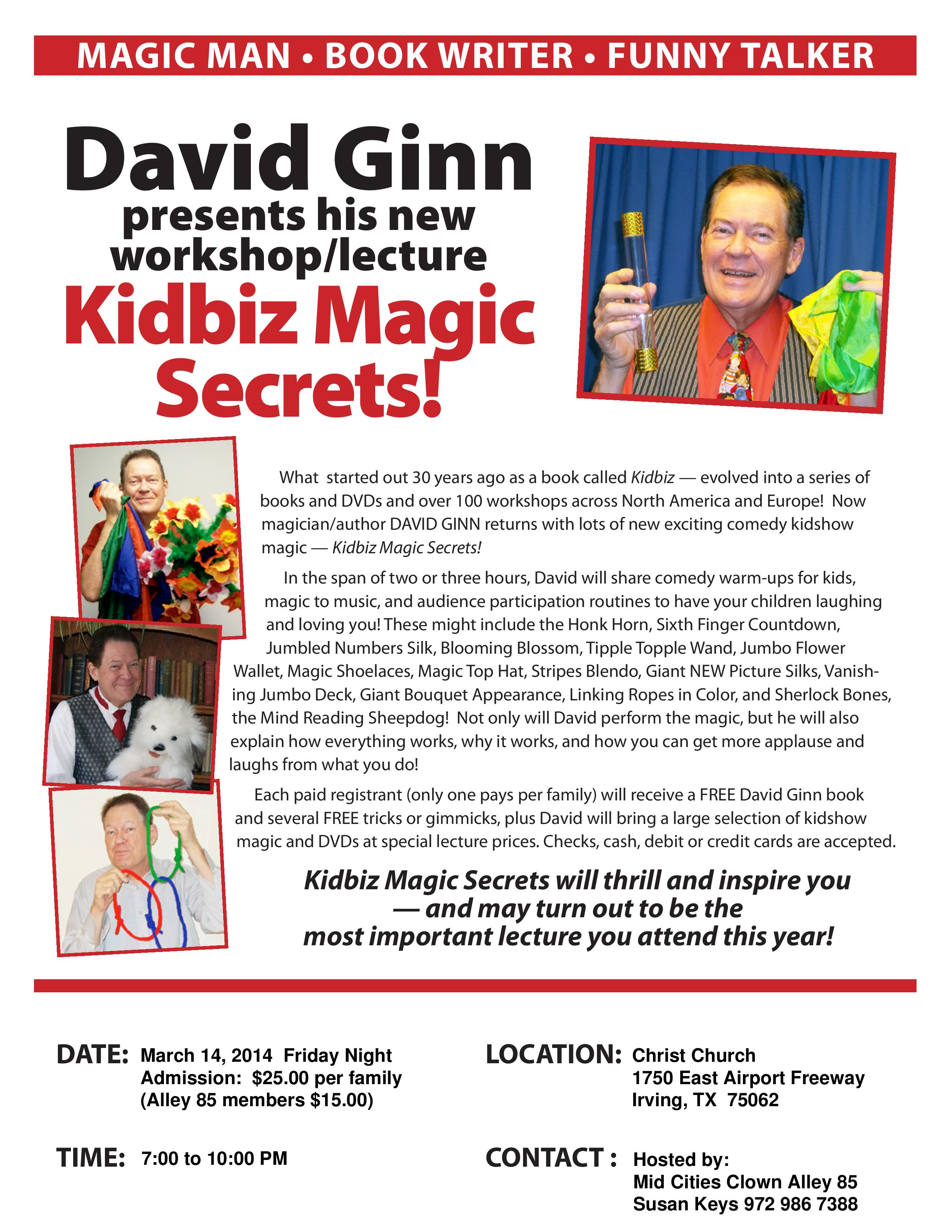 David Ginn Kidbiz Magic Secrets